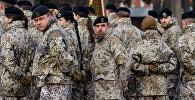 Солдаты латвийской армии в строю