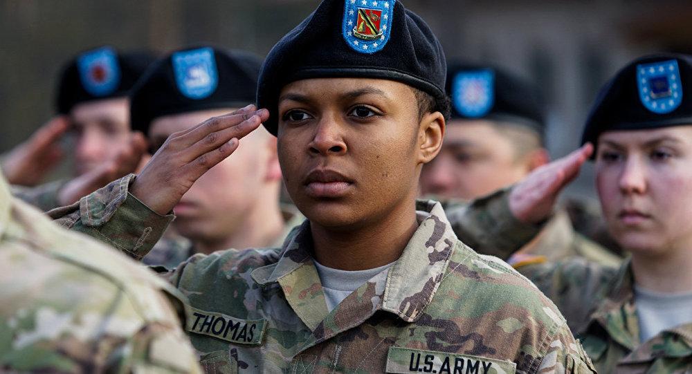 Военнослужащая американской армии