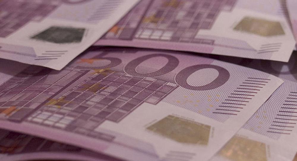 500 eiro banknote. Foto no arhīva