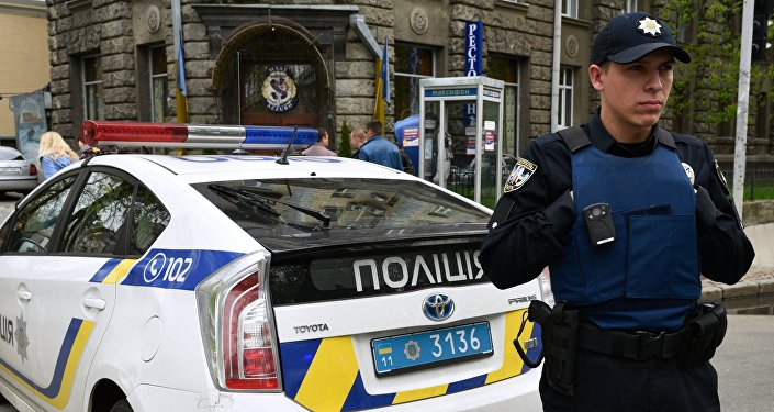 Ukrainas policijas darbinieki Kijevā