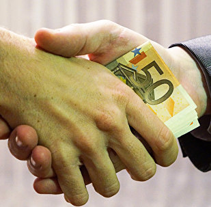 Korupcija. Ilustratīva fotogrāfija