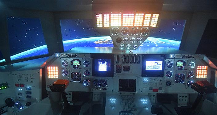 Приборная панель космического корабля Буран