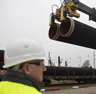 Первые трубы проекта Северный поток -2