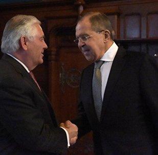 Krievijas ārlietu ministra Sergeja Lavrova un ASV Valsts sekretāra R.Tilersona tikšanās