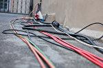 Электрические провода на улице