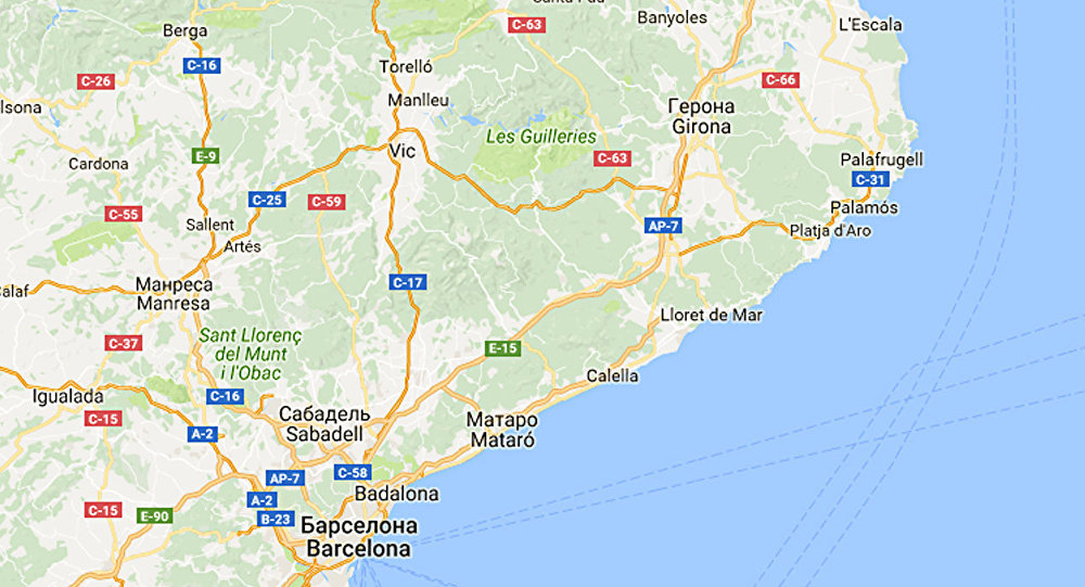 Фрагмент карты Испании