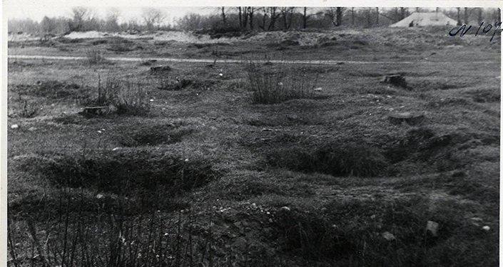 Архивные фотографии лагеря военнопленных в Саласпилсе