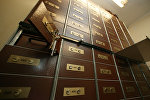 В хранилище банка, архивное фото