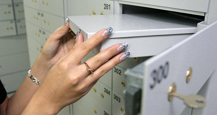 Bankas seifi. Foto no arhīva.