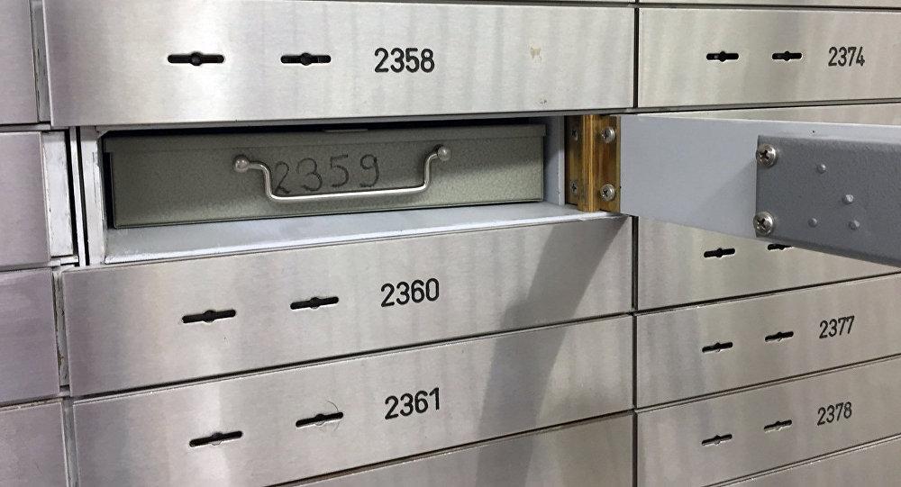 Банковские сейфы, архивное фото
