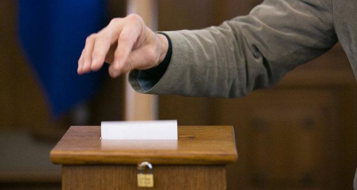 Balsošana. Foto no arhīva