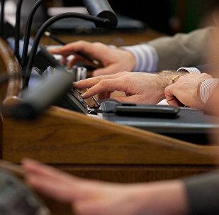 Голосование в Сейме, архивное фото