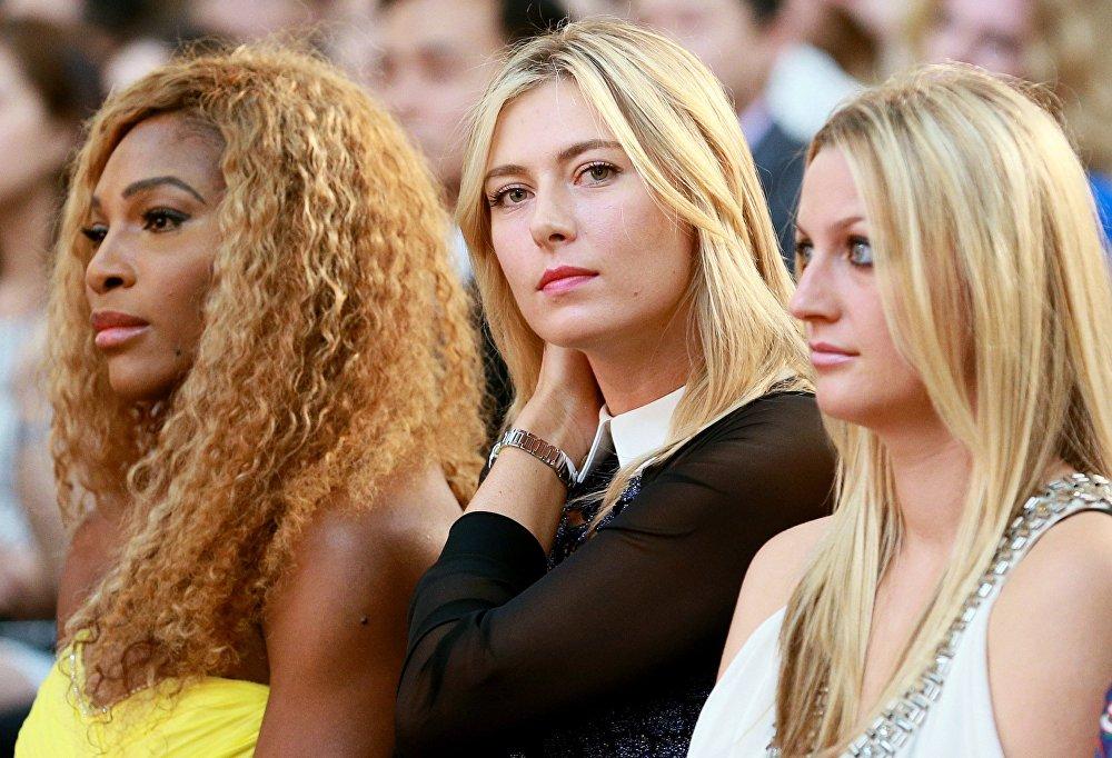 Слева направо: теннисистки Серена Уильямс (США), Мария Шарапова (Россия) и Петра Квитова (Чехия)
