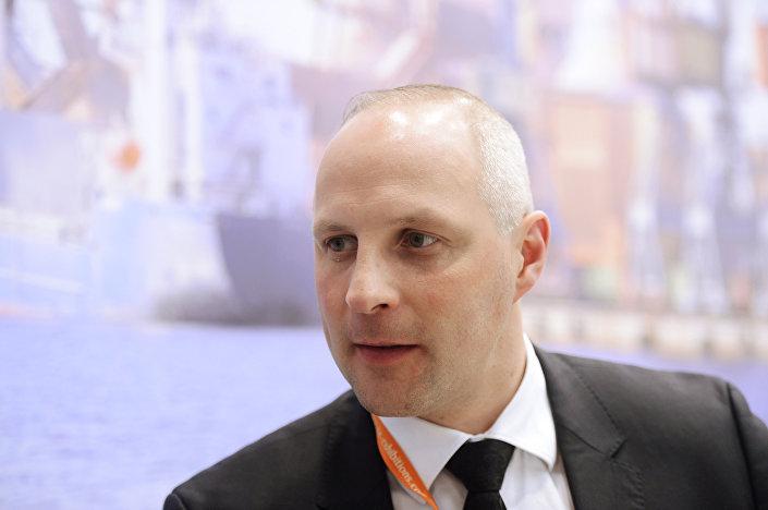 Государственный секретарь министерства сообщения Латвии Каспарс Озолиньш
