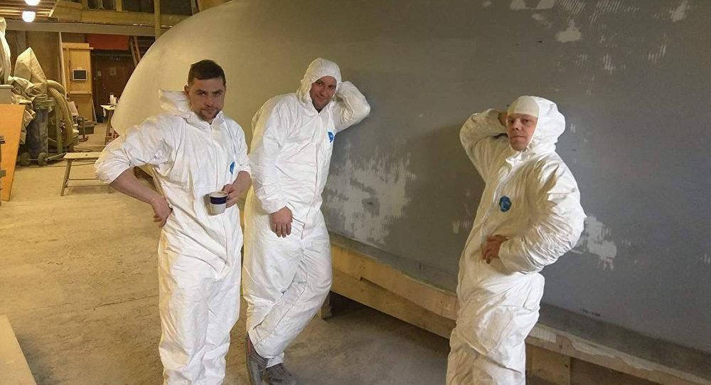 Бригада Алексея Гуленко в эстонской мастерской