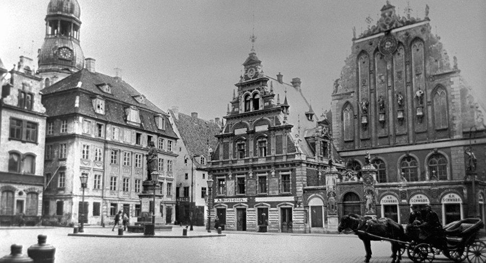 Площадь в Риге. Начало ХХ века