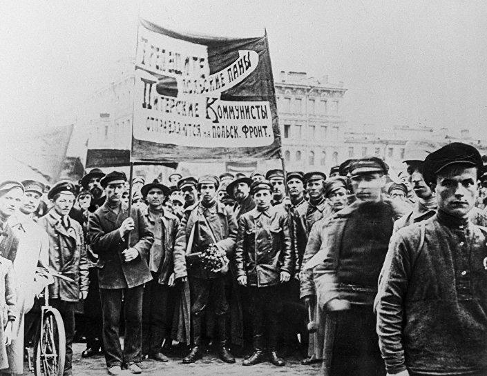 Митинг в поддержку Красной Армии во время Советско-польской войны