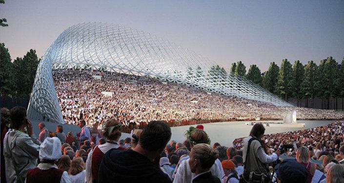 Реконструкция Большой эстрады в Межапарке