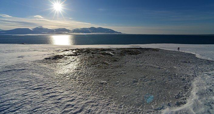 Вид на Северный Ледовитый океан с архипелага Шпицберген