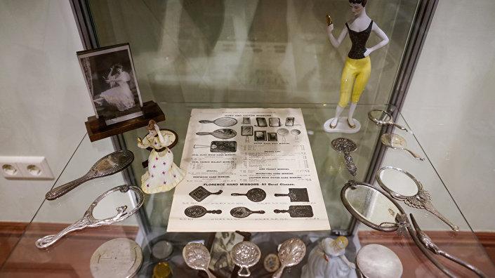 Серебряные зеркальца в стиле Ар-нуво