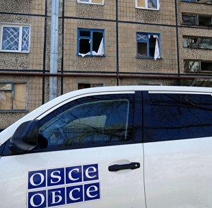 Автомобиль представителей ОБСЕ в Донецке, архивное фото