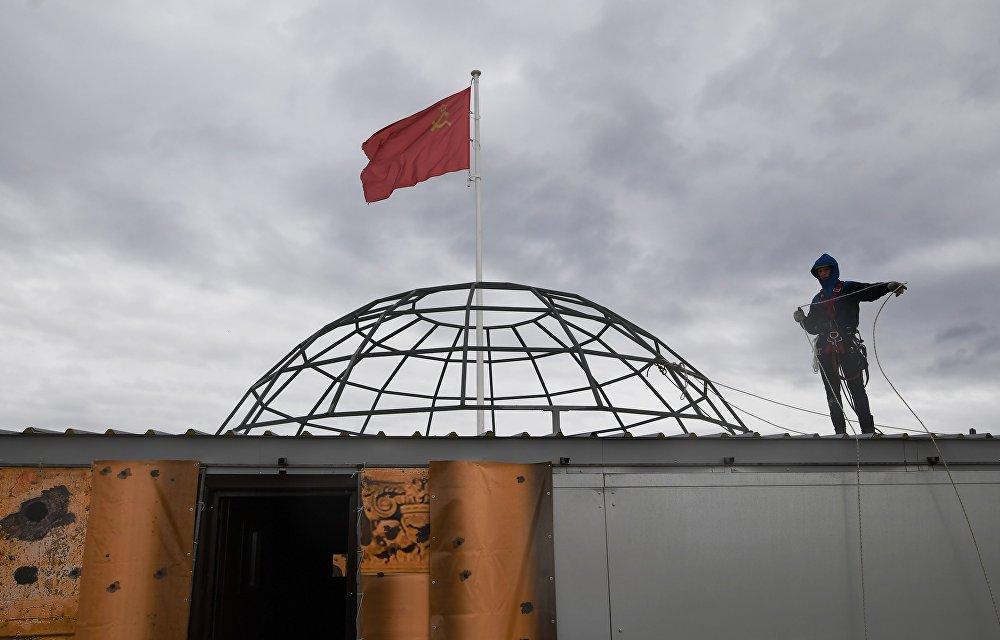 Репетиция военно-исторической реконструкции Штурм Берлина