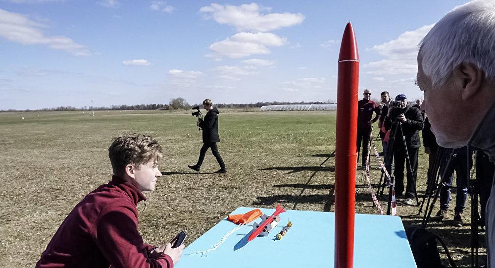 Испытательный запуск латвийской ракеты