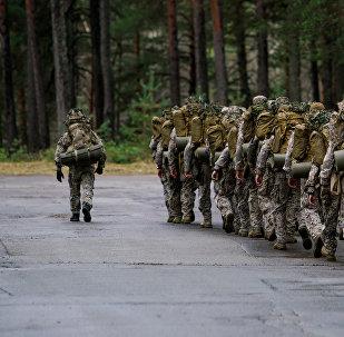 Подразделение латвийской армии, архивное фото