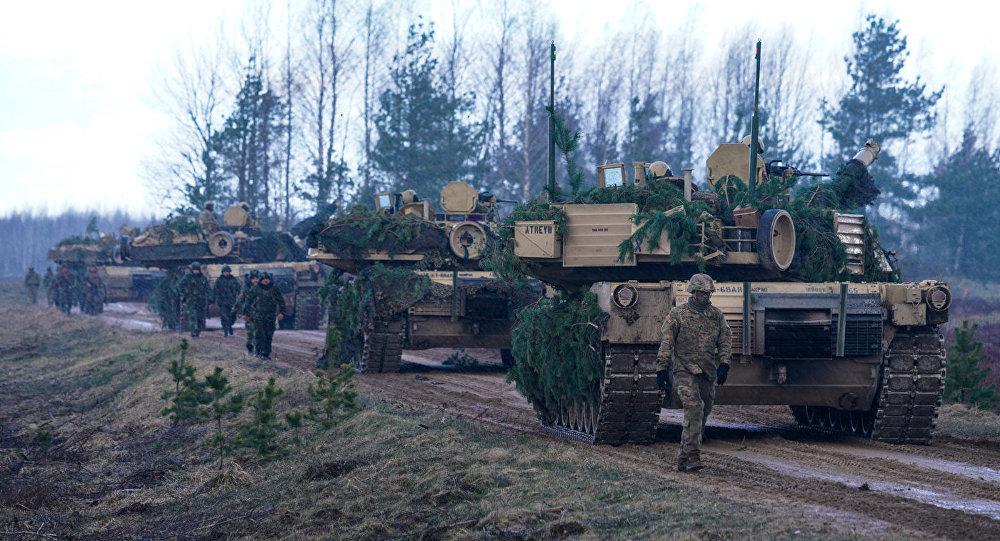 ASV tanks M1A2 Abrams starptautiskajās mācībās Summer Shield XIV