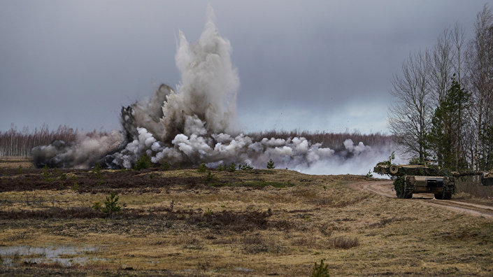 Разминирование прохода в минном поле с помощью подрыва специального боеприпаса