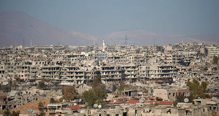 Situācija Sīrijas galvaspilsētā Damaskā