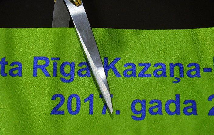Торжественное открытие авиарейса по маршруту Казань-Рига-Казань