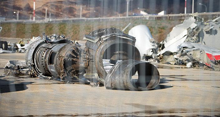 Обломки упавшего самолета Минобороны РФ Ту-154, собранные у берегов Сочи, доставлены на территорию сочинского аэропорта
