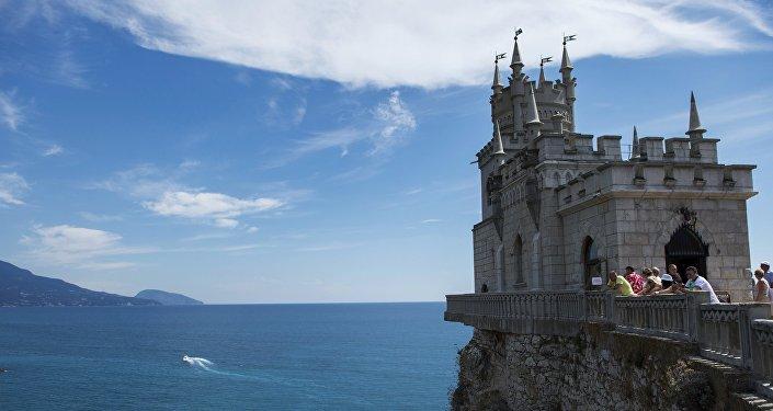 Памятник архитектуры и истории Ласточкино гнездо в поселке Гаспра в Крыму