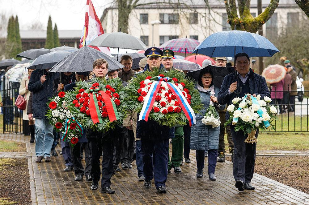 Перезахоронение воинов погибших в годы Великой отечественной войны в Латвии