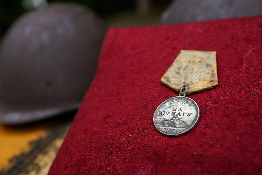 Медаль За отвагу удалось обнаружить во время поисковых работ
