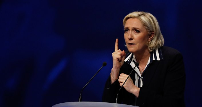 Кандидит в президенты Франции Мари Ле Пен