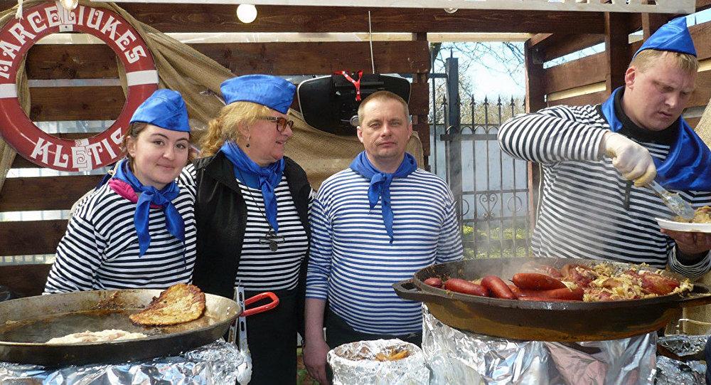 Литовская команда на фестиваля уличной еды в Зеленоградске