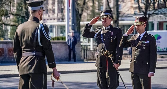 25-летие возрождения Роты почётного караула Штабного батальона Национальных вооружённых сил Латвии