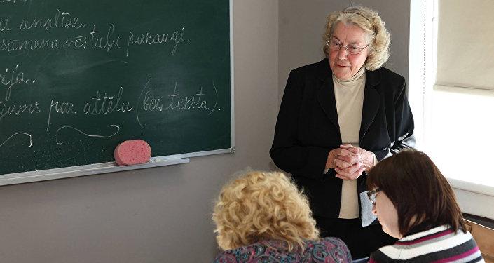 Лига Паберзе - учительница с 62-летним стажем