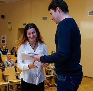 В конференц-зале Балтийской международной академии наградили участников Тотального диктанта