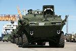 Канадская военная техника прибыла в Адажи