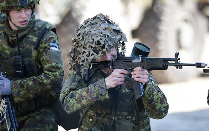 NATO minitārās mācības Spring storm Igaunijā. Foto no arhīva