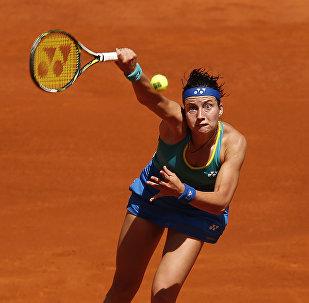 Анастасия Севастова из Латвии на турнире в Мадриде