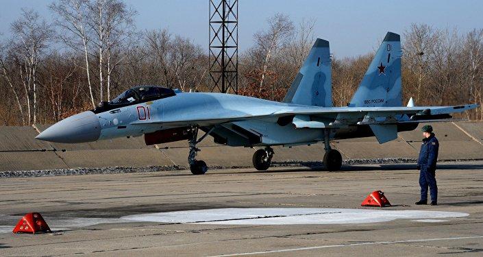 Новый российский истребитель Су-35С. Архивное фото