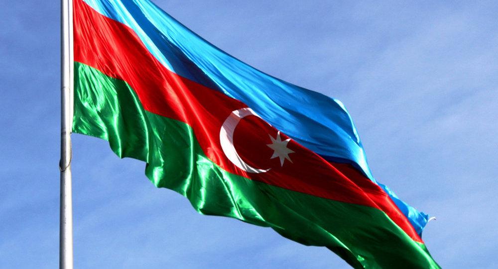 Azerbaidžānas Republikas karogs. Foto no arhīva