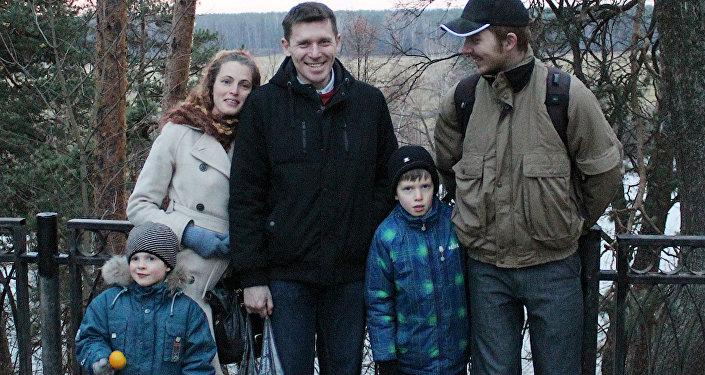 Antoņina Kreiša ar ģimeni