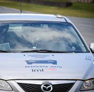 Bezpilota automašīnas izmēģinājums Biķernieku trasē