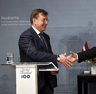 Latvijas premjerministrs Māris Kučinskis un Somijas valdības vadītājs Juha Sipile