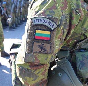 Lietuvas karavīrs. Foto no arhīva